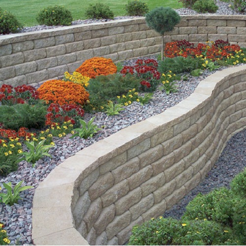 how to cut retaining wall blocks with a chisel